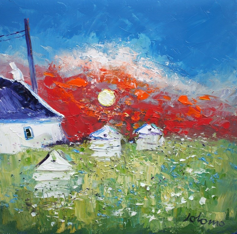Beehives Isle of Mull by John Lowrie Morrison -  sized 12x12 inches. Available from Whitewall Galleries